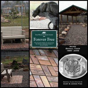 Memorial garden collage
